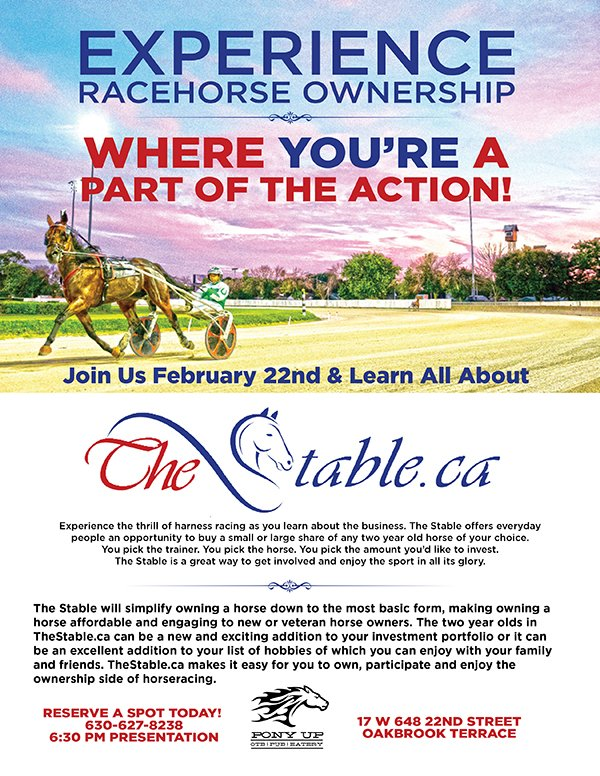 Experience Racehorse Ownership - Feb. 22nd