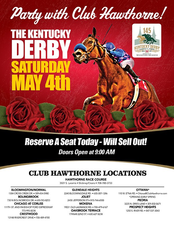 Party with Club Hawthorne on Derby Day May 4th